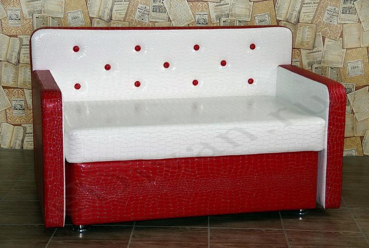 Прямой кухонный диван со спинками Престиж