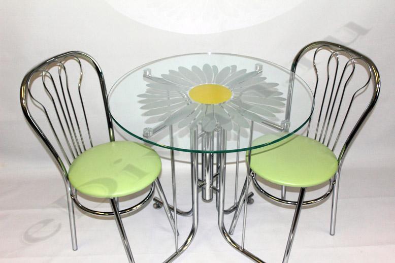Стол кухонный из стекла