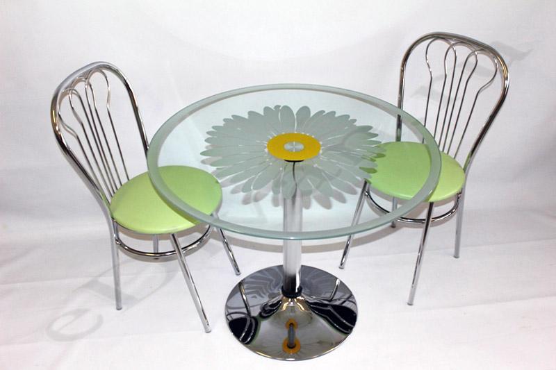 Стол кухонный из стекла Троя